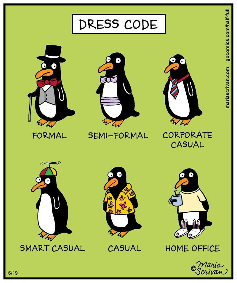 Office Dress Code Cartoons